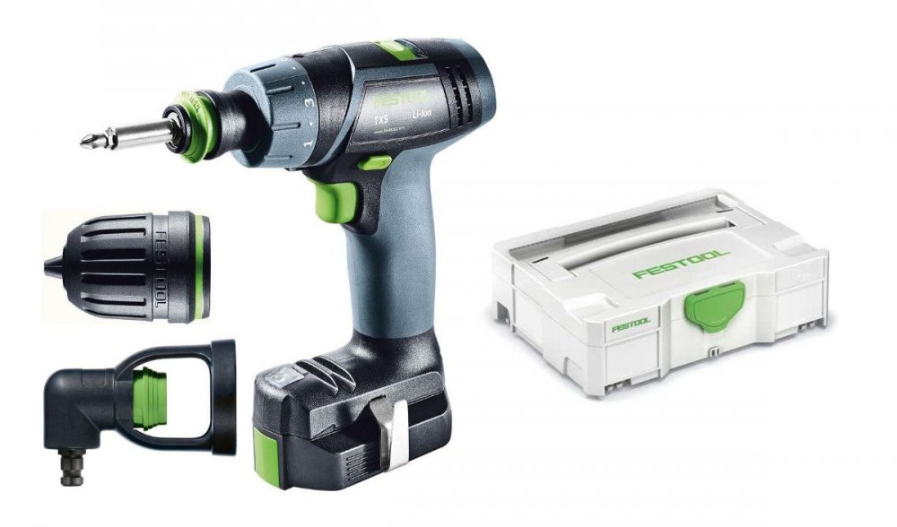 festool akku bohrschrauber txs li 2 6 set 564510 aw tools 264 18. Black Bedroom Furniture Sets. Home Design Ideas