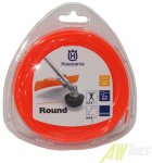 Husqvarna Trimmerfaden Standard Rund 2,4mm / 15m, Orange...