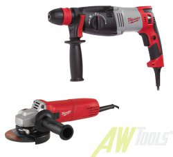 Milwaukee Kombihammer PH 28 mit Winkelschleifer AG 10-125  4933442430