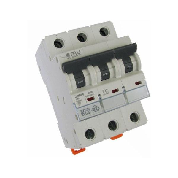 3-poliger Leitungsschutzschalter LS-Schalter Sicherungsautomat C25A , 6kA, 3P