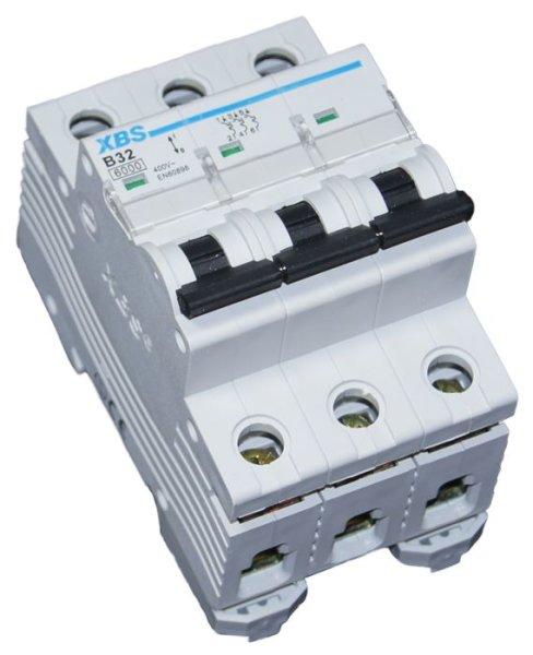 3-poliger Leitungsschutzschalter LS-Schalter Sicherungsautomat B32A , 6kA, 3P