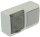 Schalter / Steckdosen Kombination  mit Klappdeckel Aufputz IP44 grau/transparent
