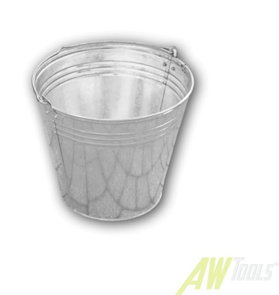 12 Liter Zinkeimer  Wassereimer Blecheimer Eimer verzinkt Metalleimer Dekoeimer