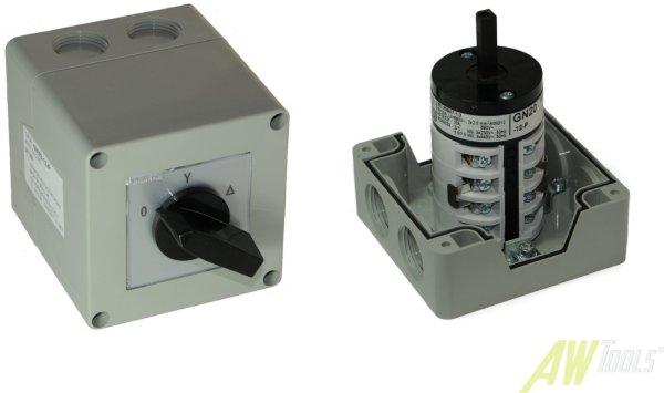 20A Stern-Dreieck-Schalter 20A gekapselt 5,5 kW IP65 Industrieschalter