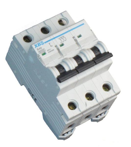 3-poliger Leitungsschutzschalter LS-Schalter Sicherungsautomat B40A , 6kA, 3P