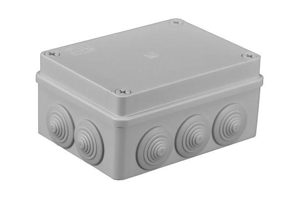 Feuchtraum Verteilerkasten Installations-Gehäuse150 x 110 x 70mm  IP65