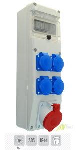 Baustromverteiler / Wandverteiler 1 x CEE 32A  4 x 230 V verdrahtet ( 6S-29-S )