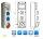 Stromverteiler, Baustromverteiler 1 x CEE32A/400V + 2 x Schuko 230V  verdrahtet incl. Legrand LS