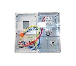Baustromverteiler / Wandverteiler 2 x Schuko 230V/16A verdrahtet + HAGER LS