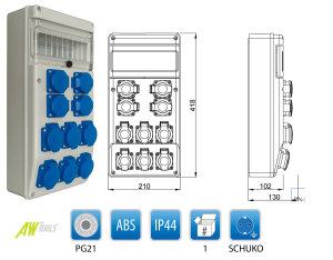 Baustromverteiler / Wandverteiler 10 x 230 V Schuko verdrahtet