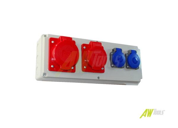 Baustromverteiler / Wandverteiler 2 x 230V/16A & 1 x CEE 16A & 1 x CEE 32A verdrahtet