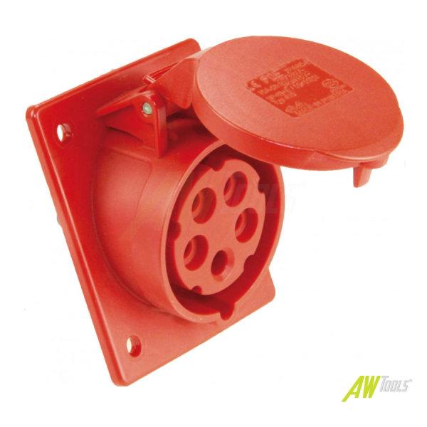CEE Einbausteckdose  Steckdose  CEE 16A 380/415V 5-polig 6h IP44 geneigt