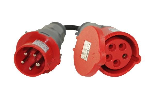 CEE Adapter 16A/400V Stecker auf CEE 32A/400V Kupplung 5-polig 5x2,5mm