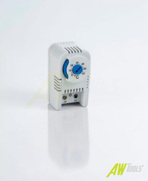 Thermostat f. Hutschiene NO Schließer Blau 0-60°C Schaltschrank Temperatur Regulierung