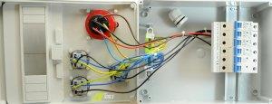 Baustromverteiler / Wandverteiler 3 x 230V/16A Schuko & 1 x CEE 16A/400V verdrahtet + LS