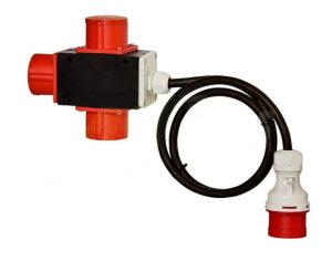 Baustromverteiler Stromverteiler CEE 16A 400V auf 3 x CEE...