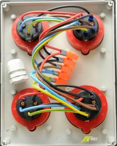 Baustromverteiler / Wandverteiler 3 x CEE16A/400V + 1 x CEE32A/400V verdrahtet