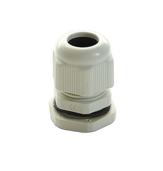 Kabelverschraubung Kabelsicherung PG7 IP68 grau wasserdicht Klemmbereich 3-6,5mm