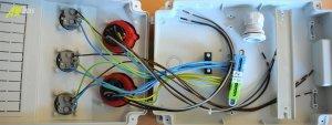 Baustromverteiler Wandverteiler 3 x Schuko 230V/16A & 2 x CEE 16A/400V verdrahtet ohne Sicherung