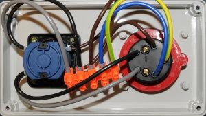 Baustromverteiler / Wandverteiler 1 x CEE 16A/400V mit...