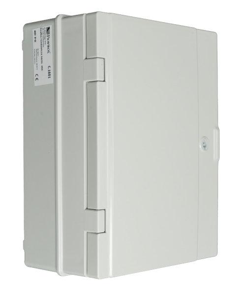 Baustromverteiler Wandverteiler IP65 4 x Schuko 230V/16A + LS + FI verdrahtet abschließbar