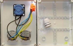 Stromverteiler Wandverteiler 2 x 230V/16A verdrahtet m.Hauptschalter