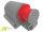 CEE Wand-Stecker 16A/400V 5-polig rot 6h IP44 3P+E+N Aufputz