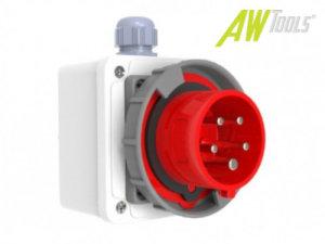 CEE Aufputz Wand-Stecker 16A/400V 5-polig rot 6h IP67 3P+E+N