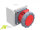 CEE Aufputz Wand-Steckdose 16A/400V 5-polig rot 6h IP67 Aufputz
