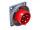 CEE Anbaustecker 32A/400V 5-polig 6h IP67 mit Phasenwender gerade Starkstrom Drehstrom