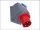 CEE Wand-Stecker 63A/400V 5-polig 6h IP44 + 230V Schuko Starkstrom Drehstrom