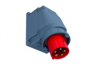 CEE Wand-Stecker 63A/400V 5-polig IP67 geneigt Starkstrom...