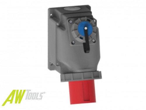 CEE Wand-Stecker 63A/400V 5-polig IP67 + 230V Schuko Buchse Starkstrom Drehstrom