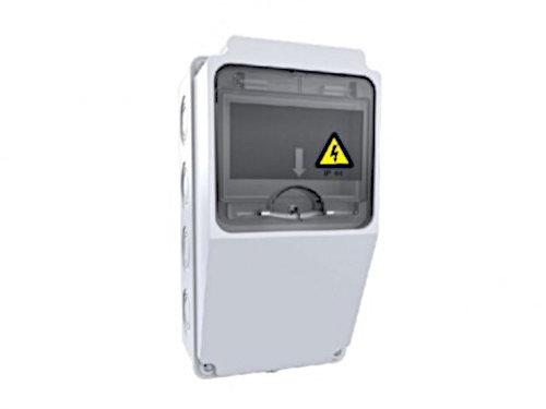 Baustromverteiler Wandverteiler IP44 Leergehäuse ohne Steckdose u. Sicherung halogenfrei