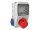 Baustromverteiler Wandverteiler 1 x CEE32A/400V 2 x 230V/16A Schuko IP44 verdrahtet ohne Sicherung