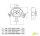Stromampel Energieampel 2xCEE16A/400V + 2x230V/16A Schuko + 3xDruckluft Baustromverteiler Stromverteiler Energiewürfel