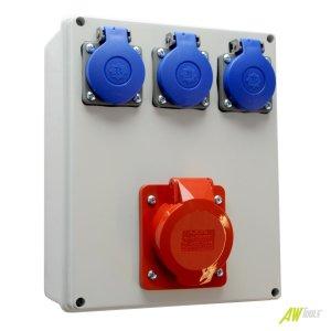 Baustromverteiler / Wandverteiler 3 x 230V/16A & 1 x CEE 16A verdrahtet