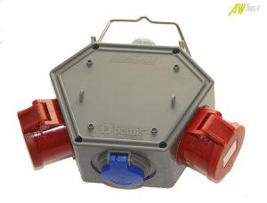 Stromampel Energieampel 1 x 230V Schuko + 2 x CEE 16A/400V Energiewürfel Versorgungseinheit