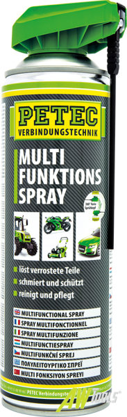 PETEC Multi-Funktions-Spray Kontakt Löser Schutz-Spray Rostlöser 500 ML 71250
