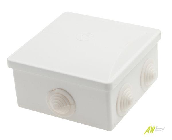 Feuchtraum Verteilerkasten Installations-Gehäuse 80 x 80 x 40mm IP44 weiss