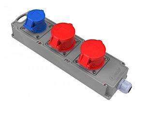 Mehrfachsteckdose 2 x CEE 16A/400V + 230V Schuko...