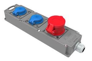 Mehrfachsteckdose CEE 16A/400V + 2 x 230V Schuko...