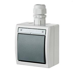 AQUANT Aufputz- Wechselschalter grau IP65 modular...