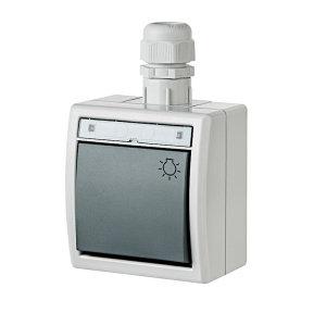 AQUANT Aufputz-Lichttaster grau IP65 modular erweiterbar...