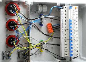 Baustromverteiler / Wandverteiler 2 x 230V/16A & 2 x...