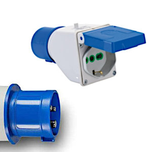 Adapter CEE 16A/250V Camping-Stecker auf...