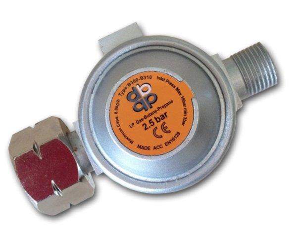 Druckregler 2,5bar Gas Regler Druckminderer Abflammgerät Propan Butangas