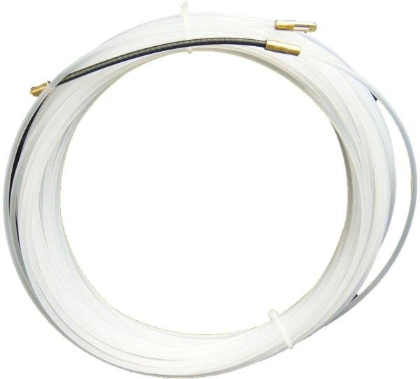 Kabeleinziehhilfe 15m  Nylon-Einziehspirale mit Suchfeder Ø 3mm