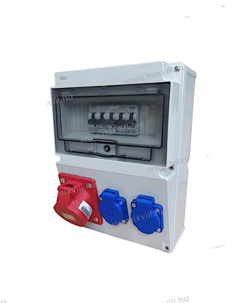 Baustromverteiler / Wandverteiler 1 x CEE 16A + 2 x 230V Schuko + LS