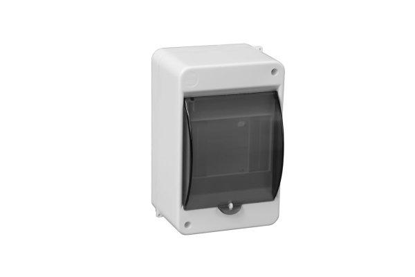 Aufputz Verteilerkasten Kleinverteiler IP30 1 reihig für max. 4 Automaten